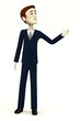 cartoon businessman - pointing