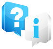 Speech Bubbles Question & Information Blue/White