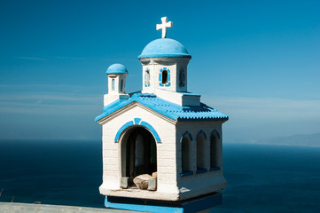 Blue white Church model, Santorini