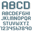 Stickers of alphabet letters and numbers