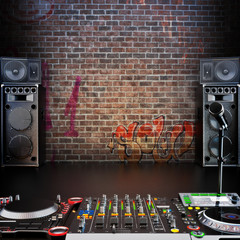 DJ R&B , Rap, or Pop Music stage or singing background