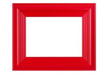 Rot lackierter Holzrahmen - Red varnished picture frame