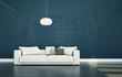 Wohndesign - weisses Sofa
