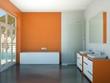 Wohndesign - Bad orange
