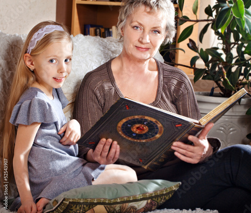 Lovely little girl with her grandmother