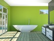Wohndesign - modernes Badezimmer grün