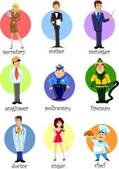 Векторные иллюстрации людей разных профессий