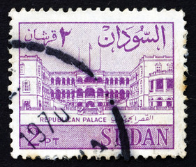 Postage stamp Sudan 1962 Palace of the Republic, Khartoum