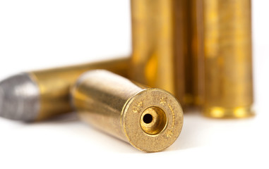 Bullets on white background