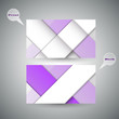 Purple Modern Business-Card Set | EPS10 Vector Design