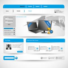 Website design template, vector. Minimalistic colors