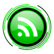 rss green circle glossy icon