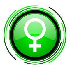 sex green circle glossy icon