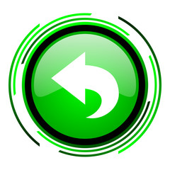 back green circle glossy icon