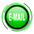 mail green circle glossy icon