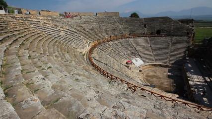 ancient amphitheater in Pamukkale Turkey