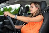 Fototapety Pregnant Woman Driving a Car