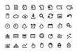 Document Simple Icons Set