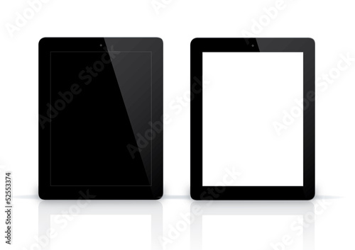 transparent pad and pad  with black screen