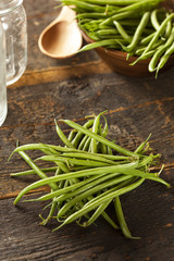Fresh Organic Raw French Green Beans