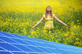 Rapeseed field and solar