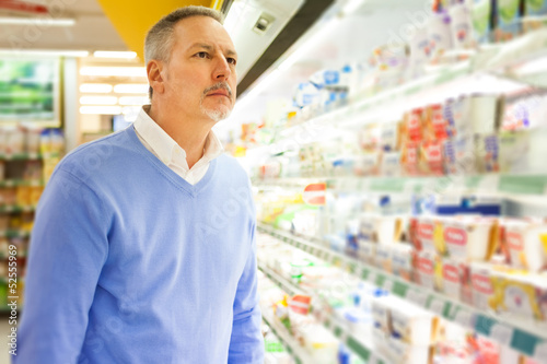 Man in a supermarket