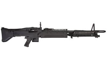 M60 machine gun isolated on white