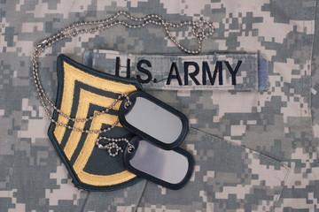 us army uniform period with blank dog tags