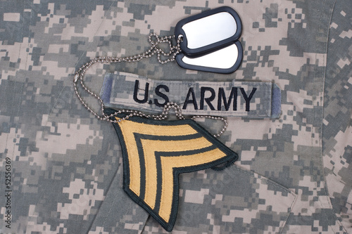 us army uniform period with blank dog tags