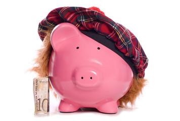 Scottish piggy bank savings