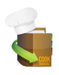 chefs hat and cook book manual