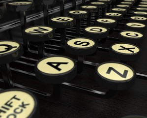 Typewriter Keys Closeup