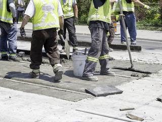 Repairing streetcar tracks