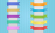 Colorful Ribbons Vector Set