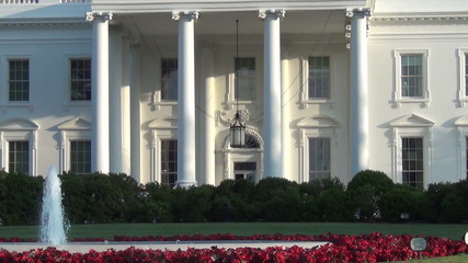 White House, Washington DC zoom out view