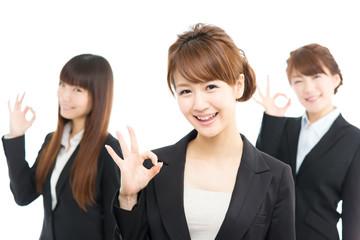 Beautiful asian businesswomen isolated on white background
