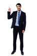 Full length portrait of cheerful businessman