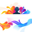 Abstract Banner and Background in Club Style