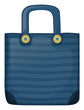 A dark blue stripe bag