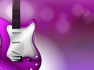 A guitar with a gradient colored background