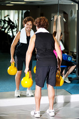 Fitness people in action, exercising...