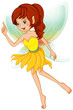 A fairy with a yellow dress