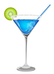 Refreshing blue cocktail