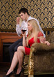 Couple and wine