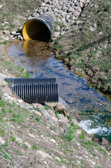 Waste water pipe polluting environment