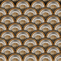 Grunge Metal Circles Background
