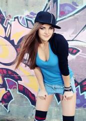 Teenager Young Woman Urban Scene