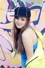 Playful Posing Young Woman Teenager
