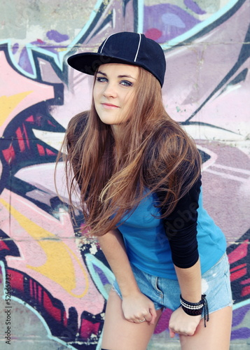 Teenager Young Woman Urban Portrait