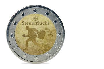 Steuerflucht - Münze